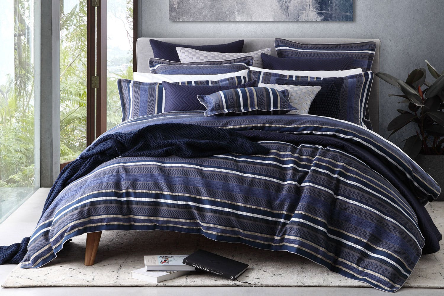 double bed buy linen tailor cover covers hilfiger tommy bedroom next amara colour products duvet block navy previous