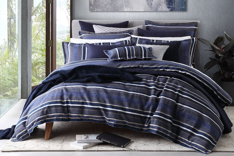 Pierson Navy Duvet Cover Set by Private Collection
