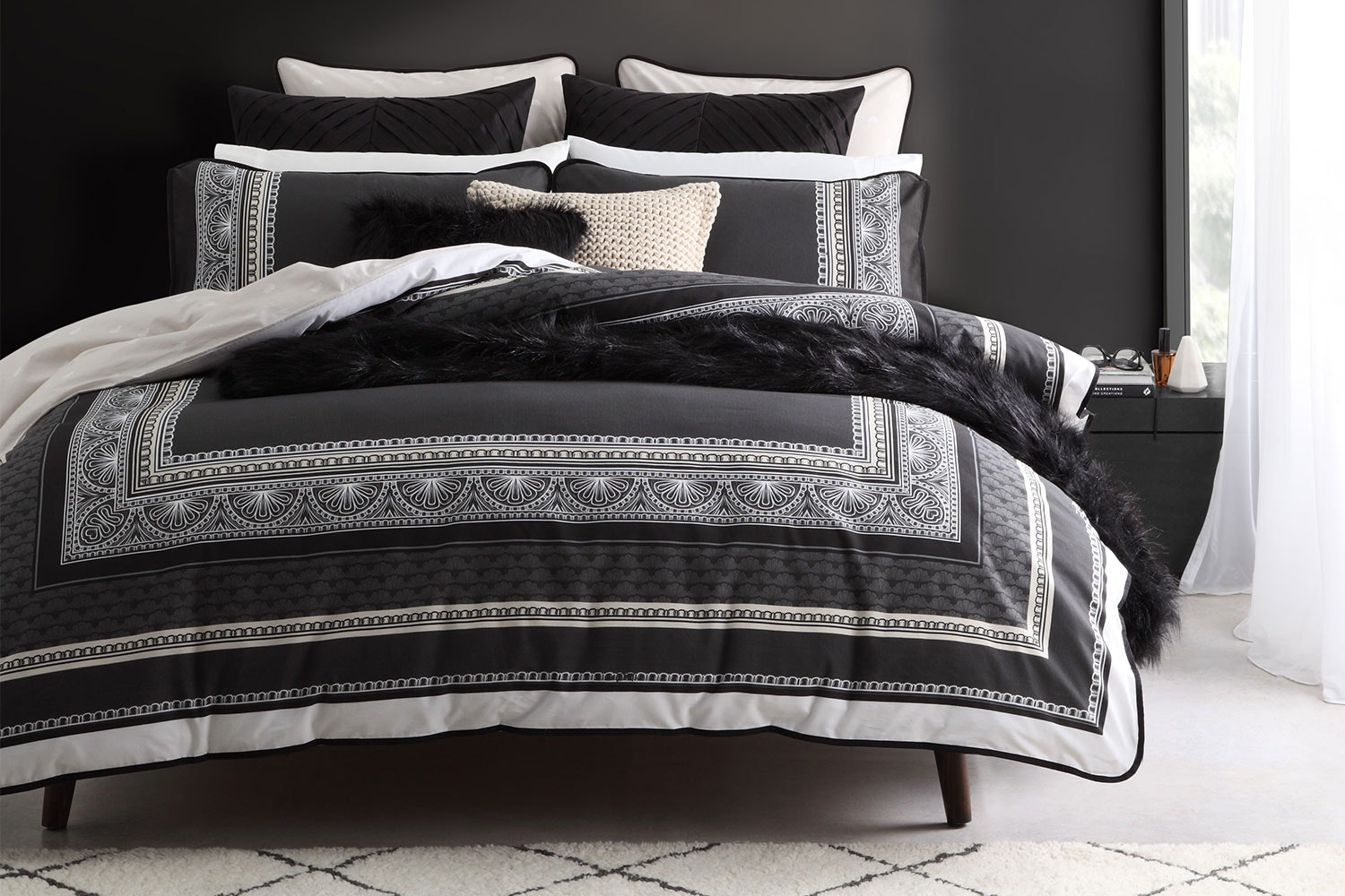 Provence Slate Duvet Cover Set by Logan and Mason
