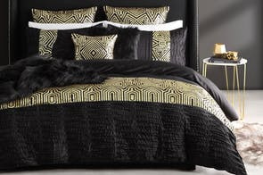 Ritz Gold Duvet Cover Set by Ultima