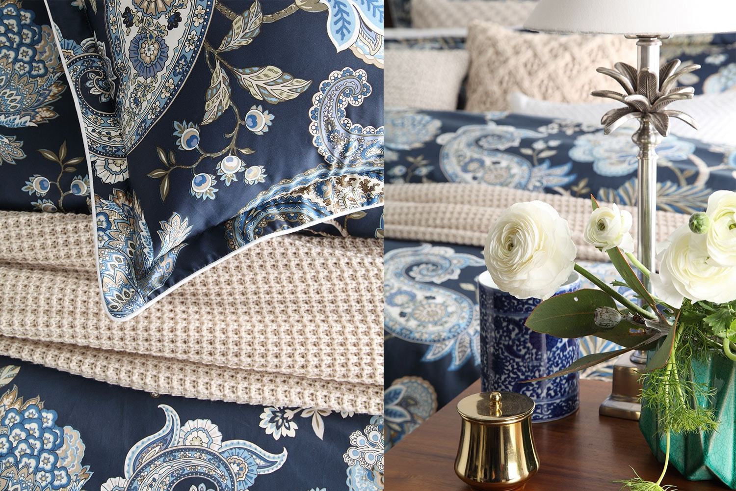 Toorak Navy Duvet Cover Set by Private Collection