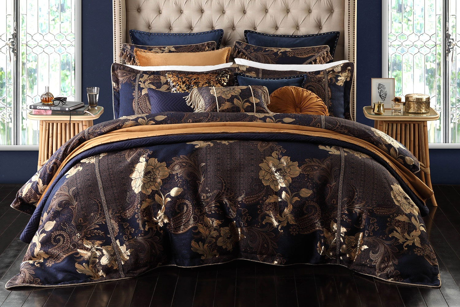 Torelli Navy Duvet Cover Set by Da Vinci