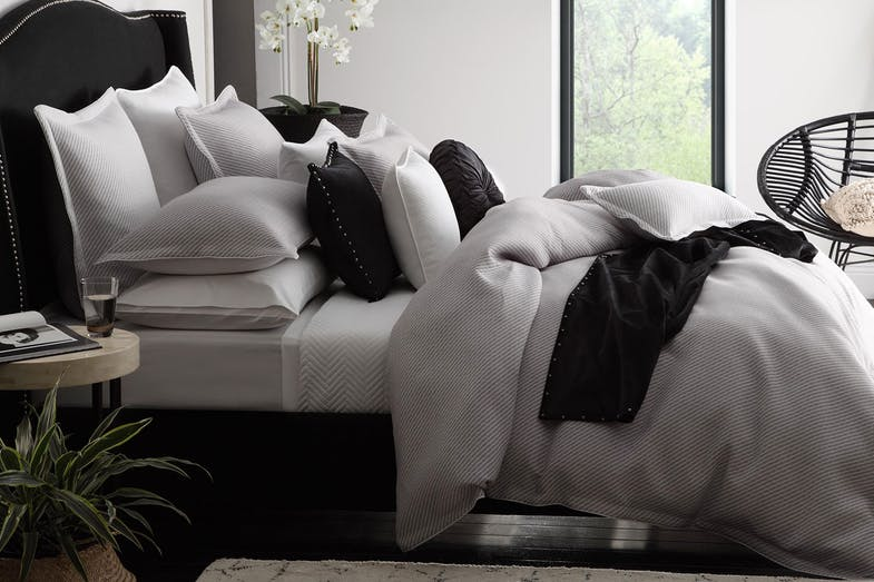Tyler Silver Duvet Cover Set by Private Collection