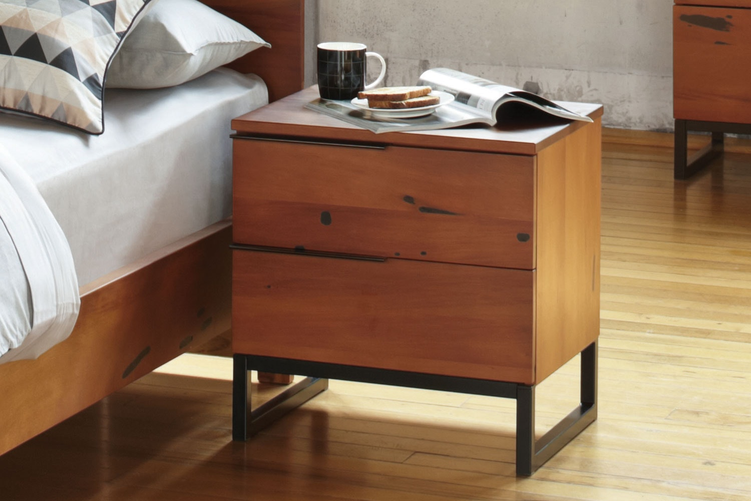 Matai Bay 2 Drawer Bedside by Sorensen Furniture