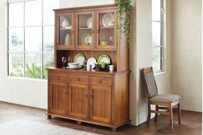 Ferngrove 3-Drawer Hutch Dresser