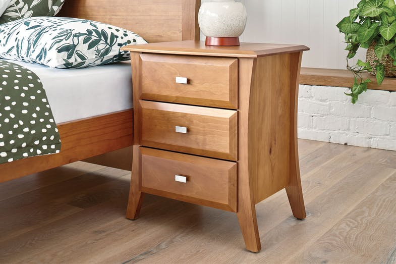 Lynbrook 3 Drawer Bedside Table by Coastwood Furniture