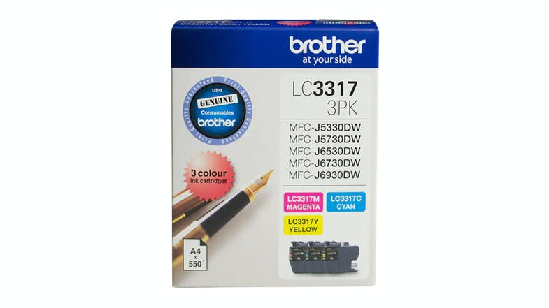 Brother LC33173PK Colour Ink Cartridge - 3 Pack