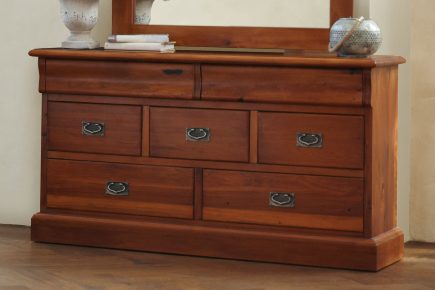 Clevedon 7 Drawer Lowboy by Woodpecker Furniture
