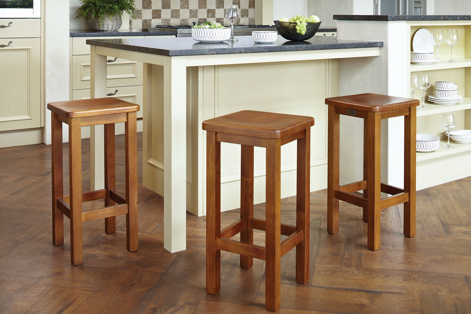 Ferngrove Dish Seat Bar Stool by Coastwood Furniture