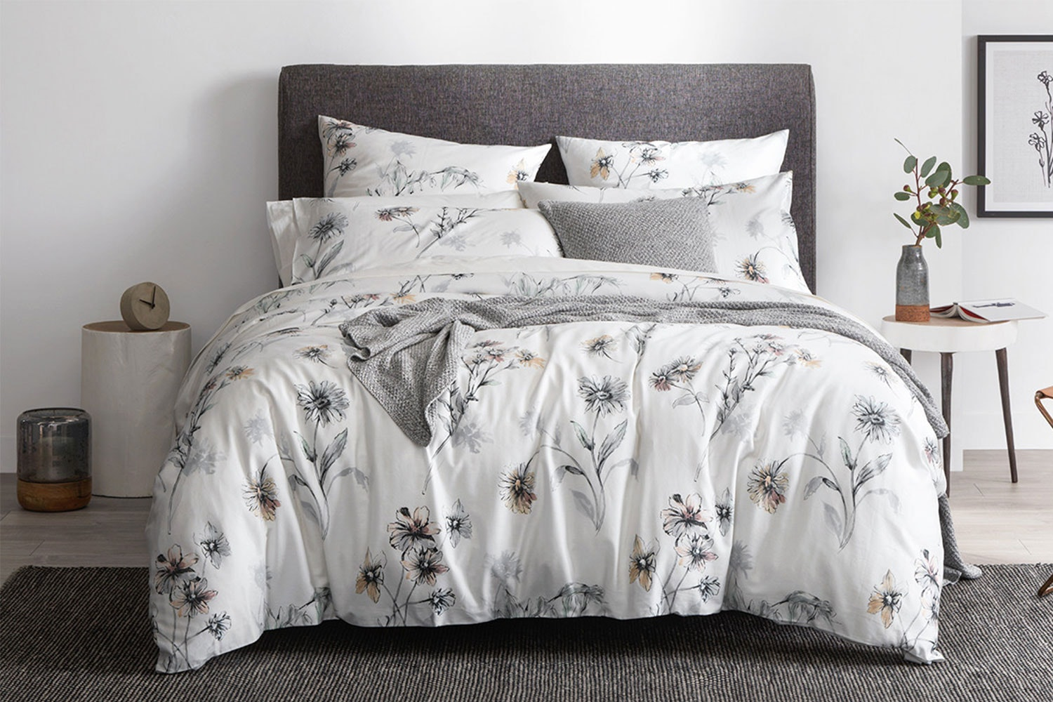 Fernvale White Duvet Cover Set by Sheridan