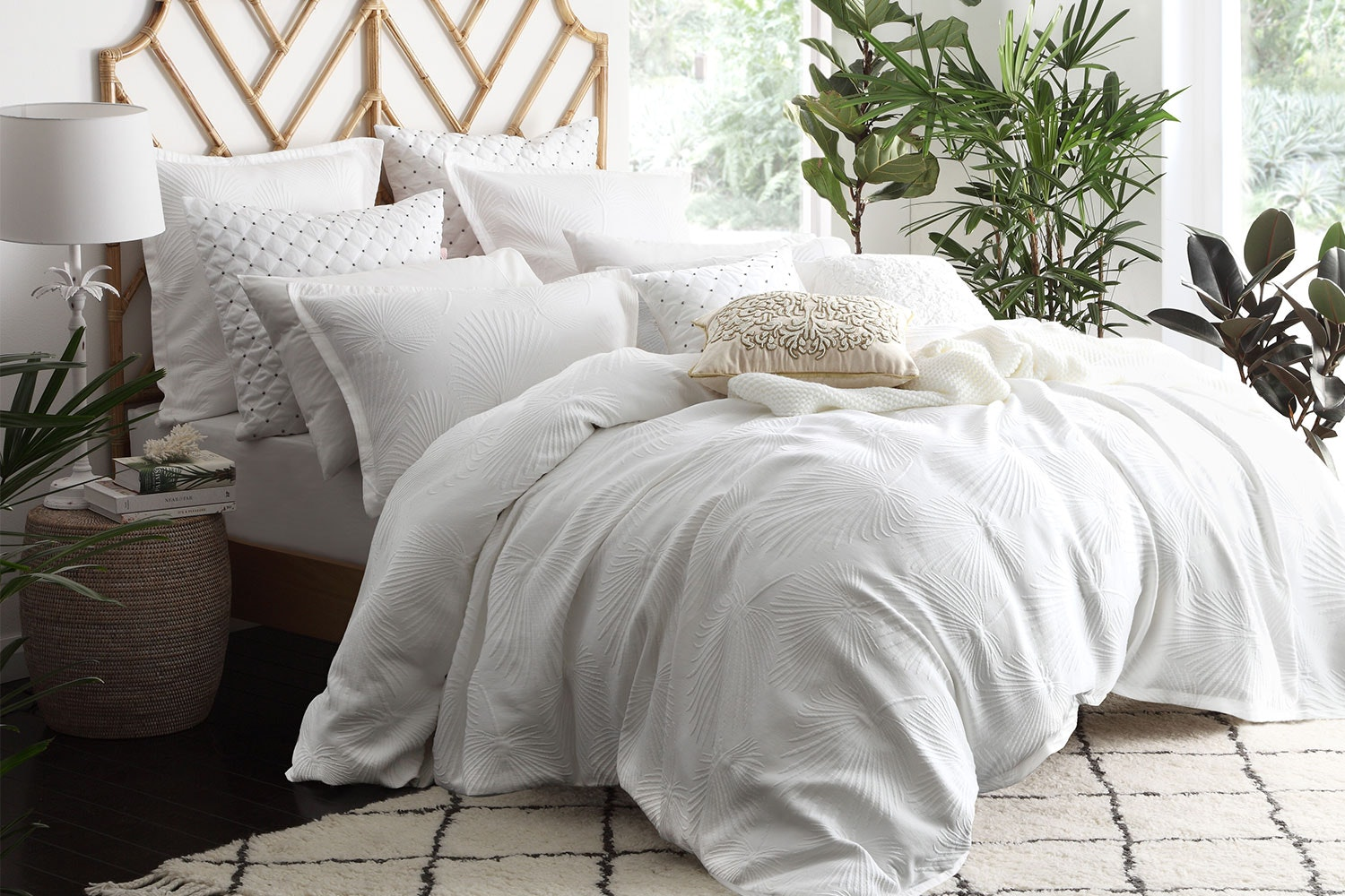 Hampton White Duvet Cover Set by Private Collection