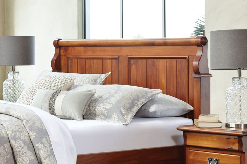 clevedon king bed frame  woodpeckers harvey norman  zealand
