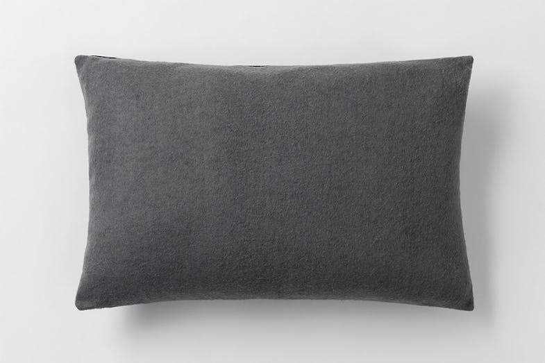 Rossmore Leather Cushion by Sheridan - Carbon Back