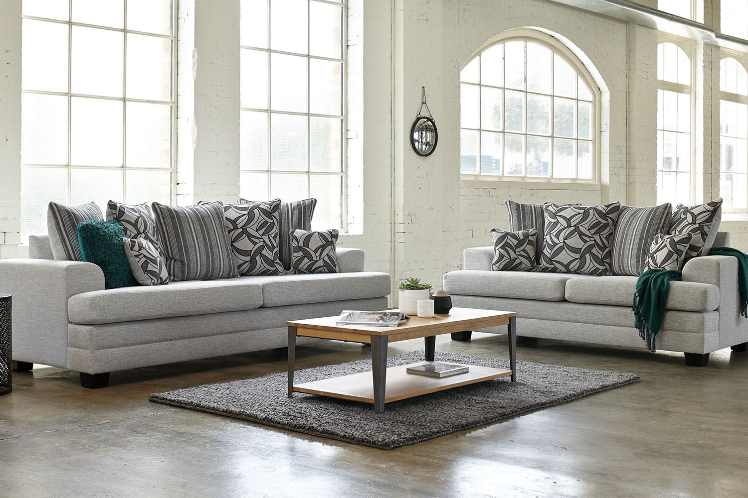 Evolution 2 Piece Fabric Lounge Suite by White Rose Furniture ...