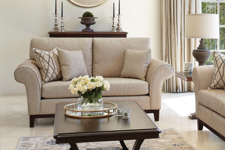 Edwardian 2 Seater Fabric Sofa by Evan John Philp - 'A' Grade