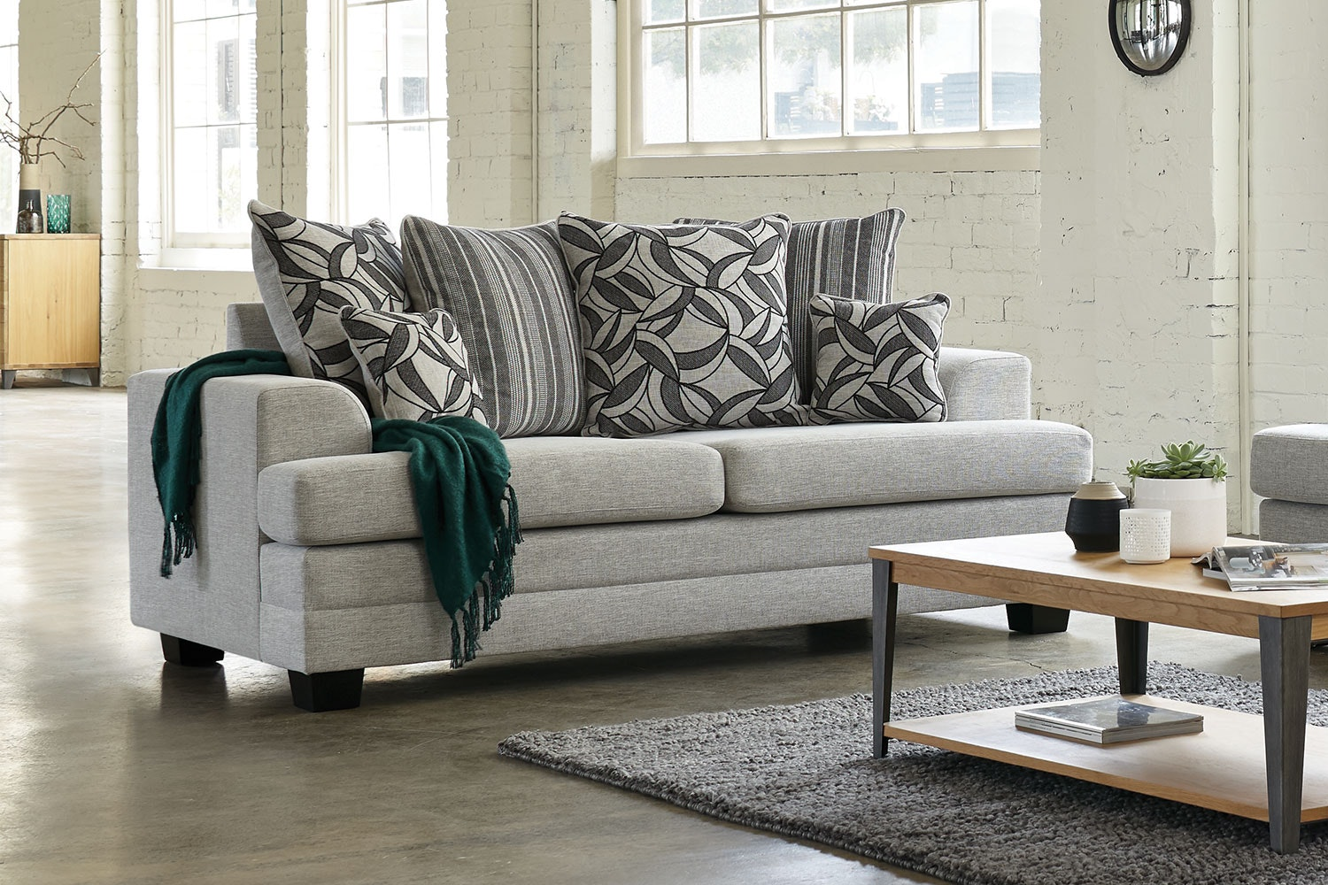 Evolution 2 Piece Fabric Lounge Suite by White Rose Furniture - 2-seater sofa