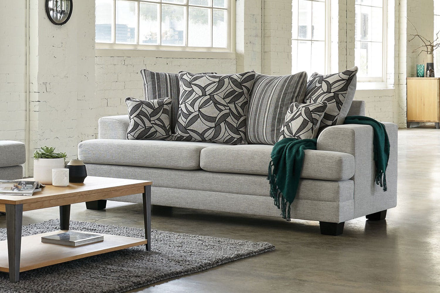 Evolution 2 Seater Fabric Sofa By White Rose Furniture