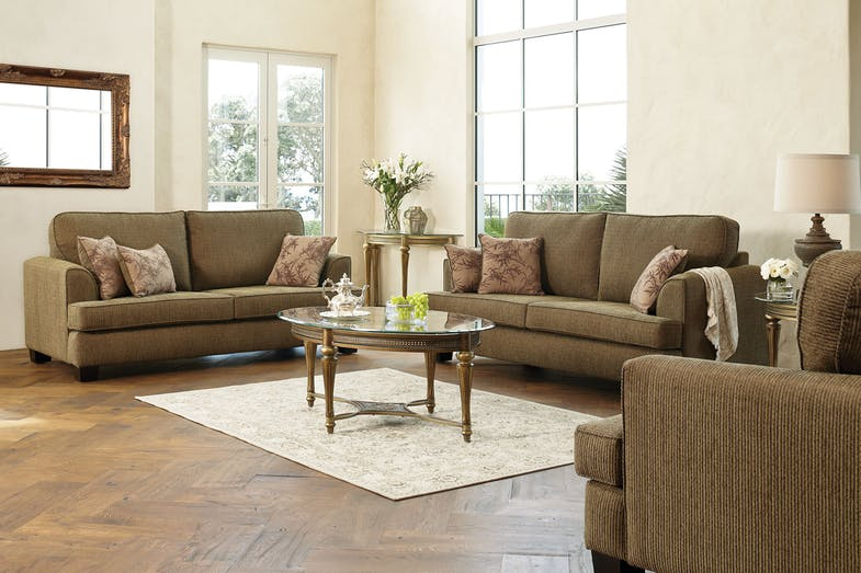 Standford 3 Piece Fabric Lounge Suite by Furniture Haven