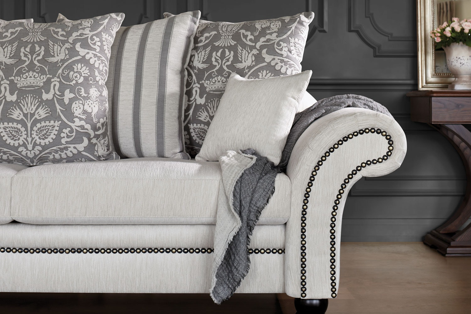 Westwood Fabric Sofa by Furniture Haven - Close Up
