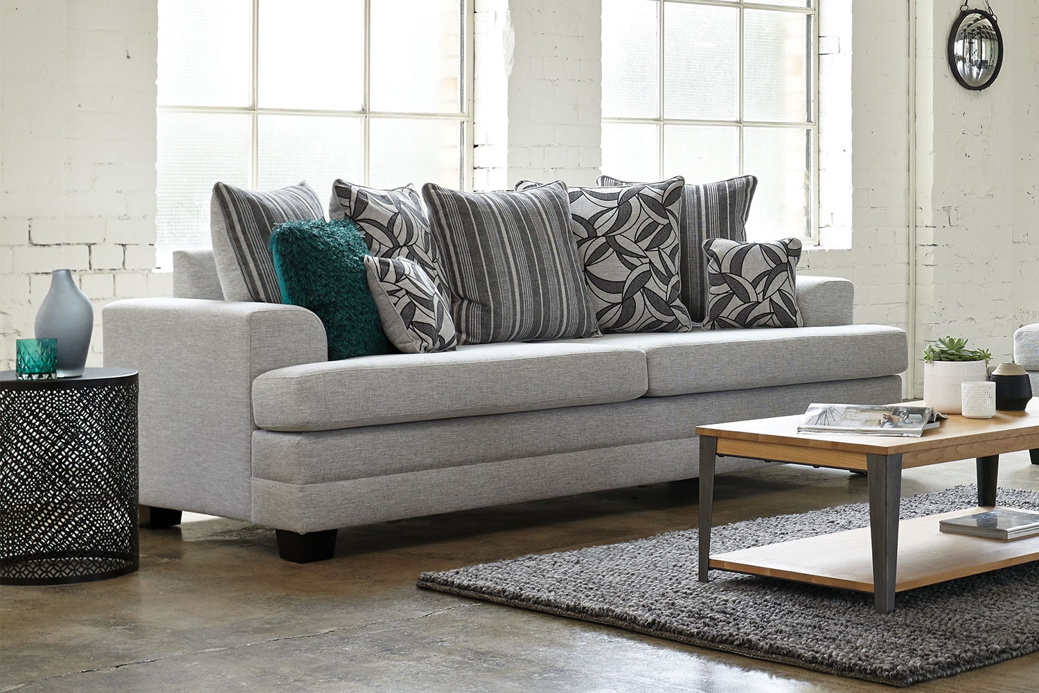 Evolution 2 Piece Fabric Lounge Suite by White Rose Furniture - 3-seater sofa