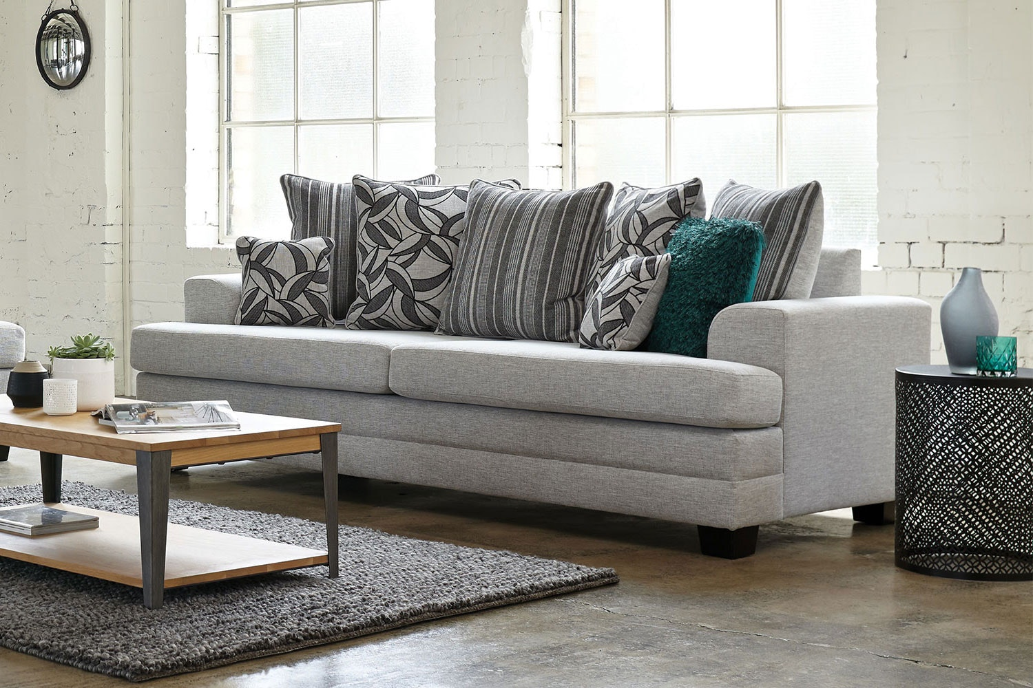 Evolution 3 Seater Fabric Sofa by White Rose Furniture