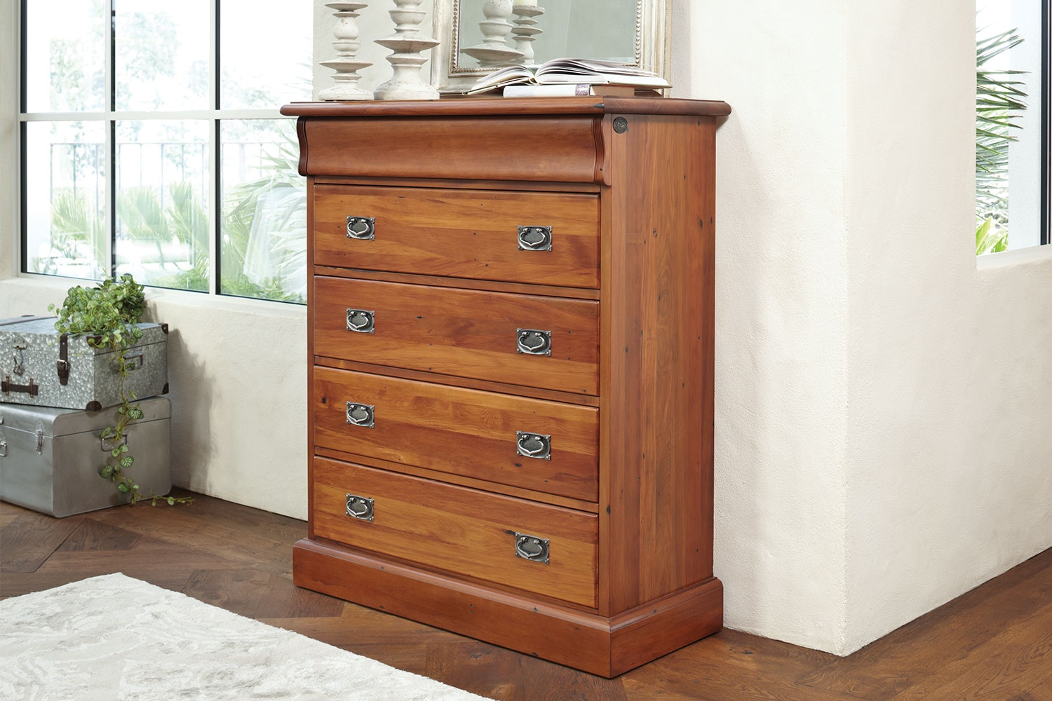 Clevedon 5 Drawer Chest by Woodpecker Furniture