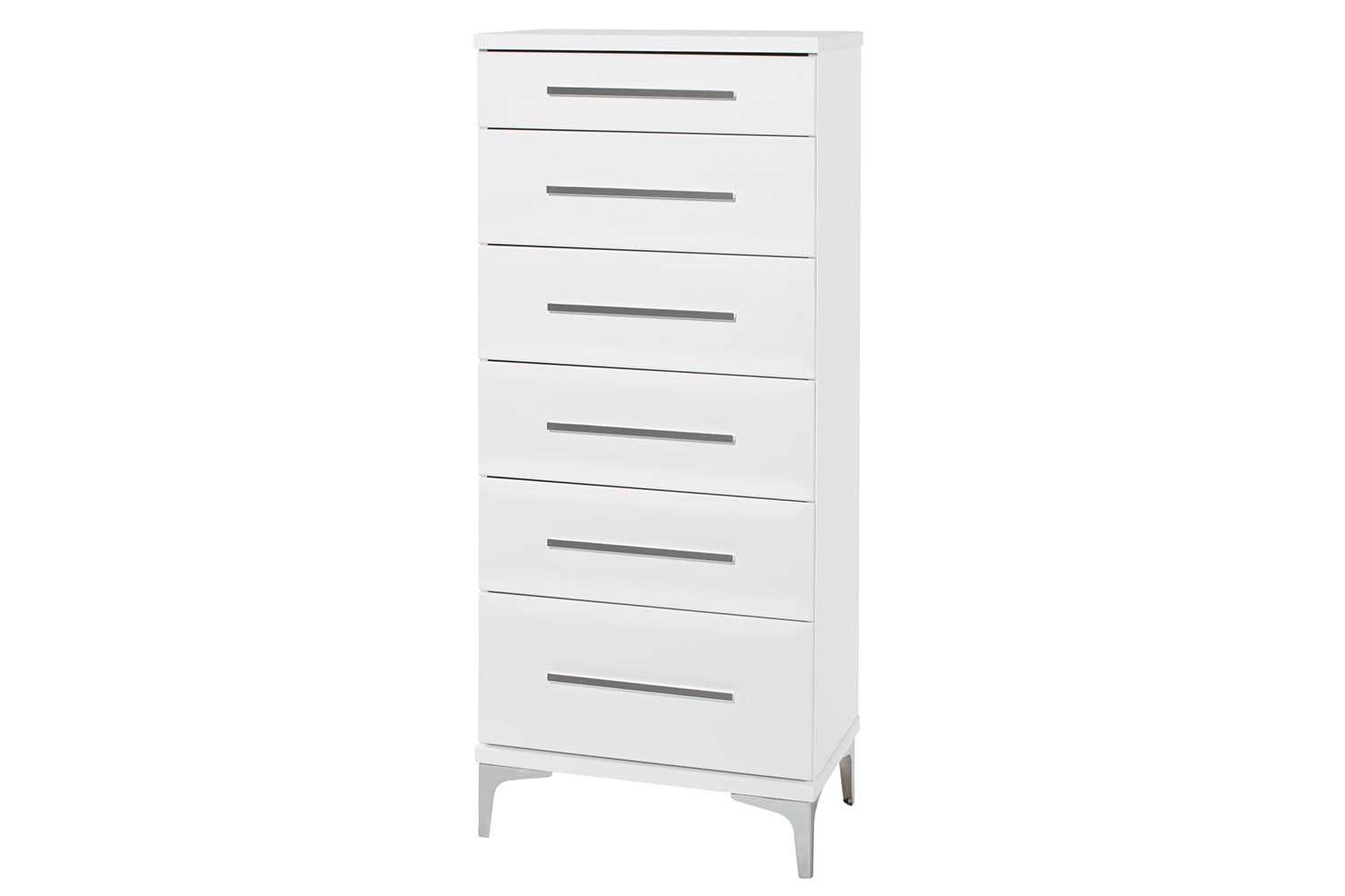 Salento 6 Drawer Slimboy by Compac Furniture - Chrome