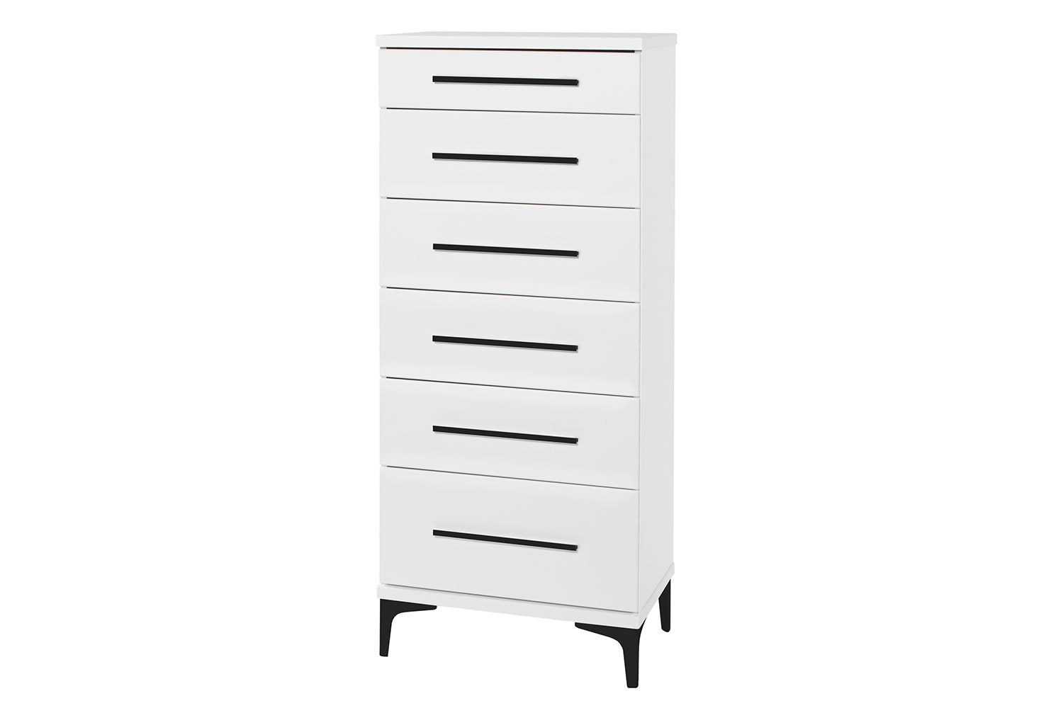 Salento 6 Drawer Slimboy by Compac Furniture - Black