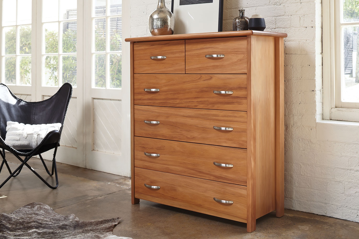 Cassidy 6 Drawer Tallboy by Ezirest Furniture