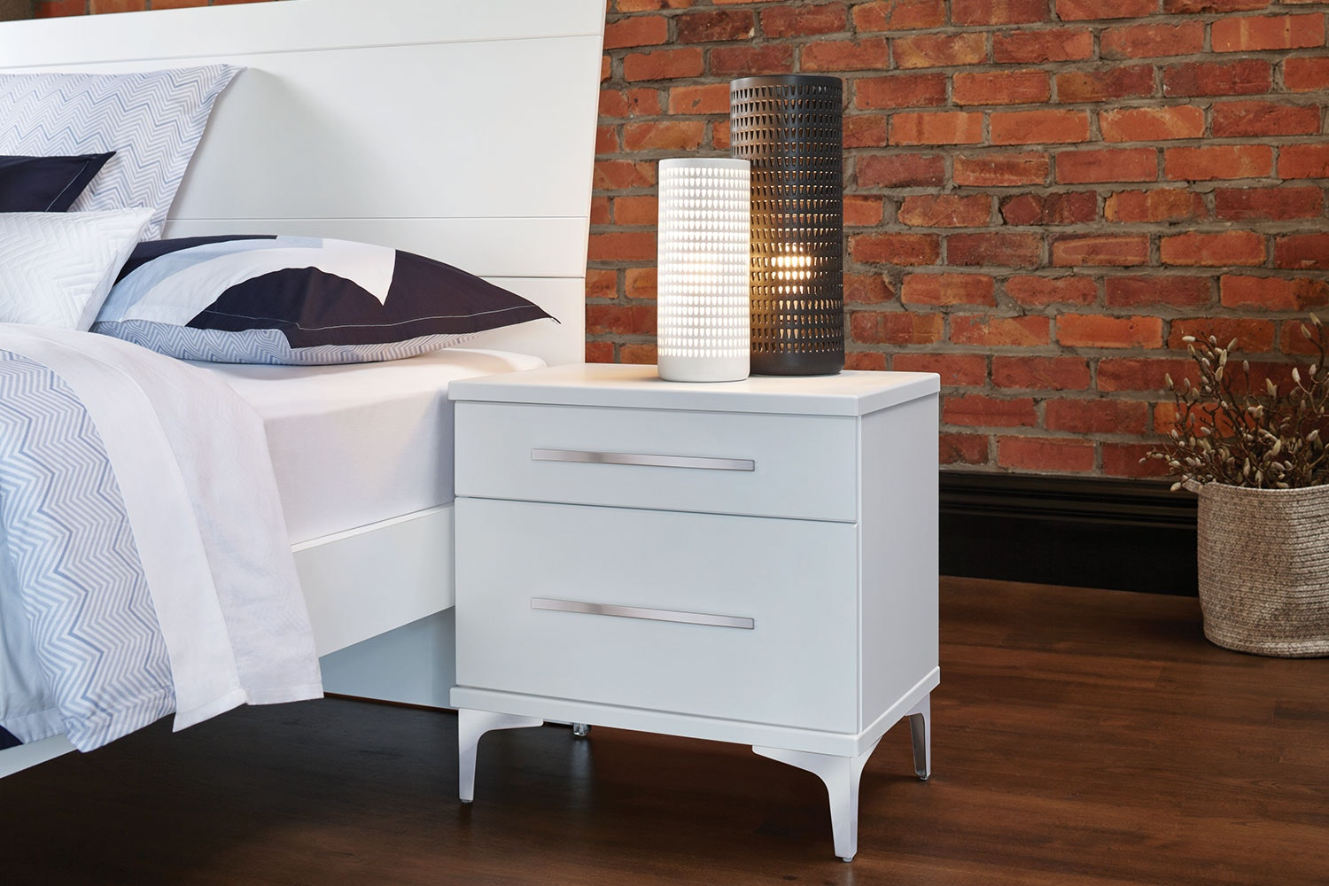 Salento 2 Drawer Bedside Table by Platform 10