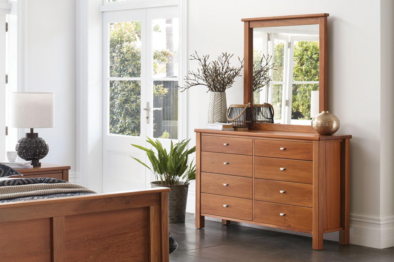 Riversdale Dresser and Mirror by Marlex Furniture