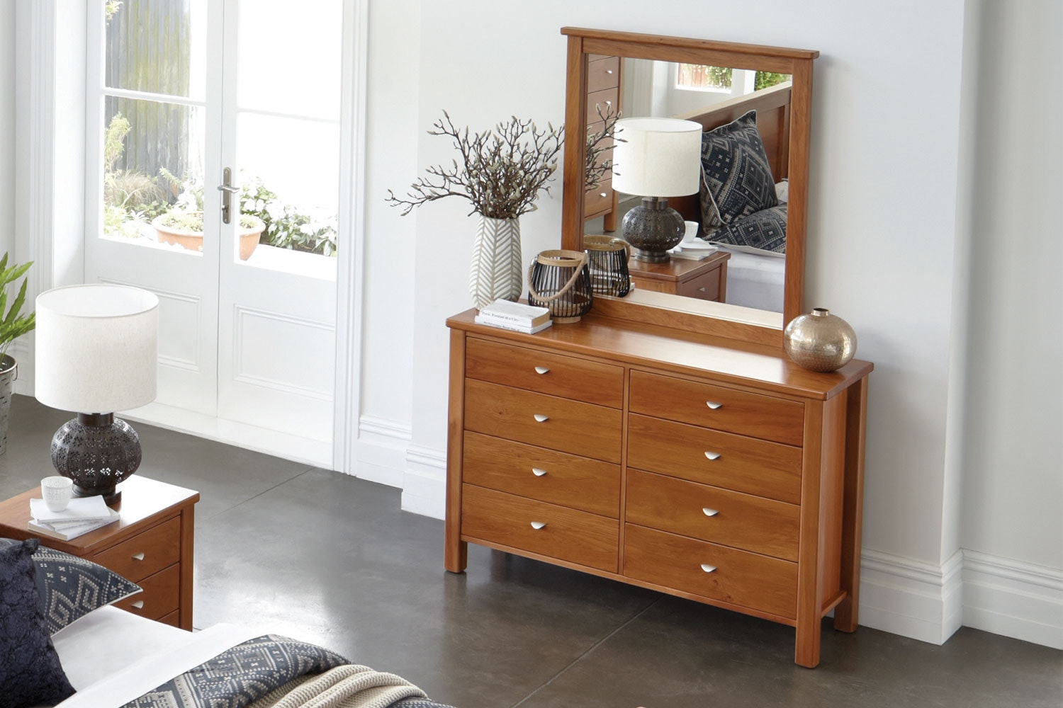 Riversdale Dresser and Mirror by Marlex Furniture