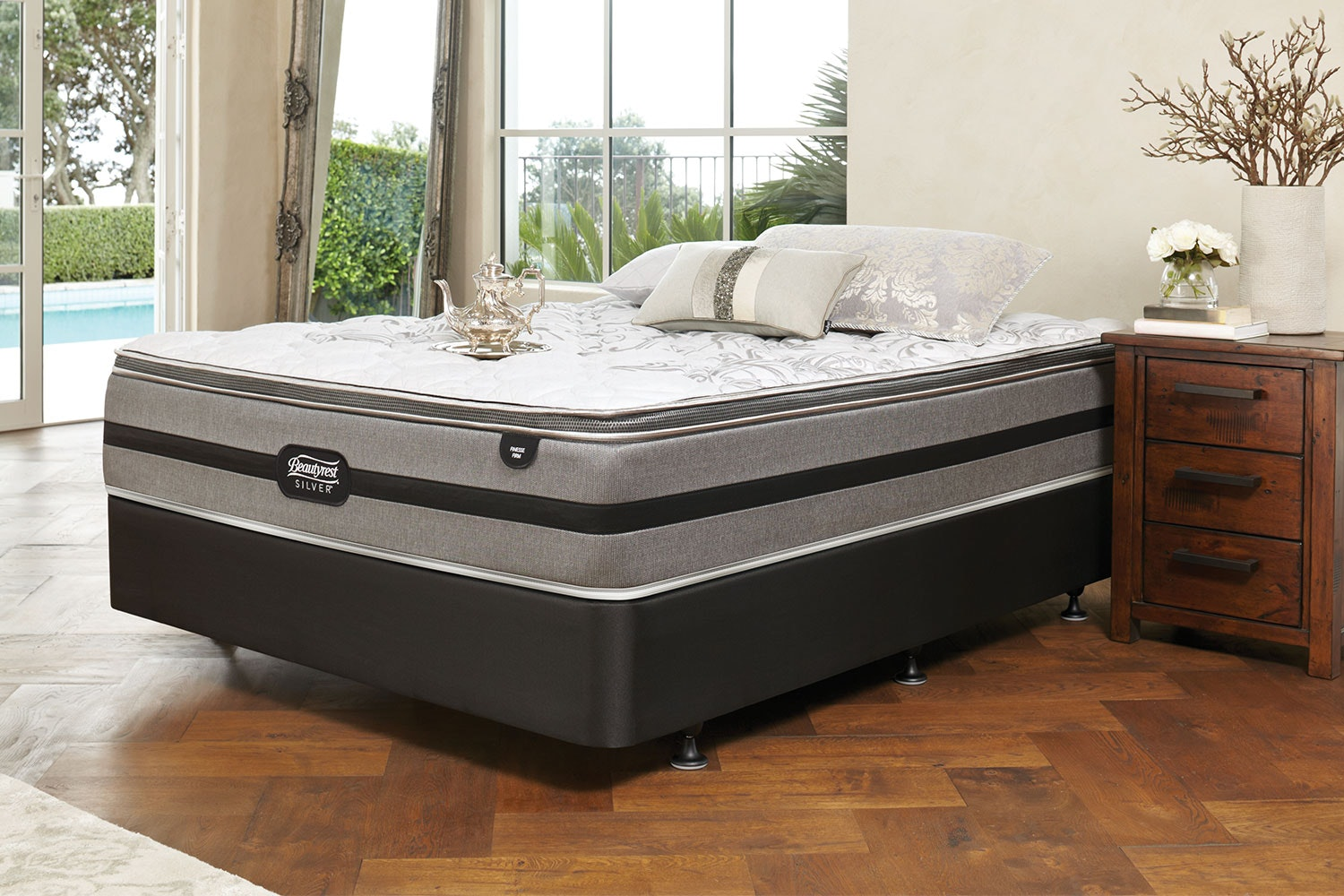 Finesse Firm Queen Bed by Beautyrest