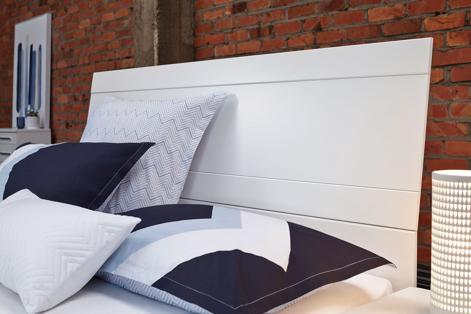Salento Queen Bed Frame by Compac Furniture - Headboard