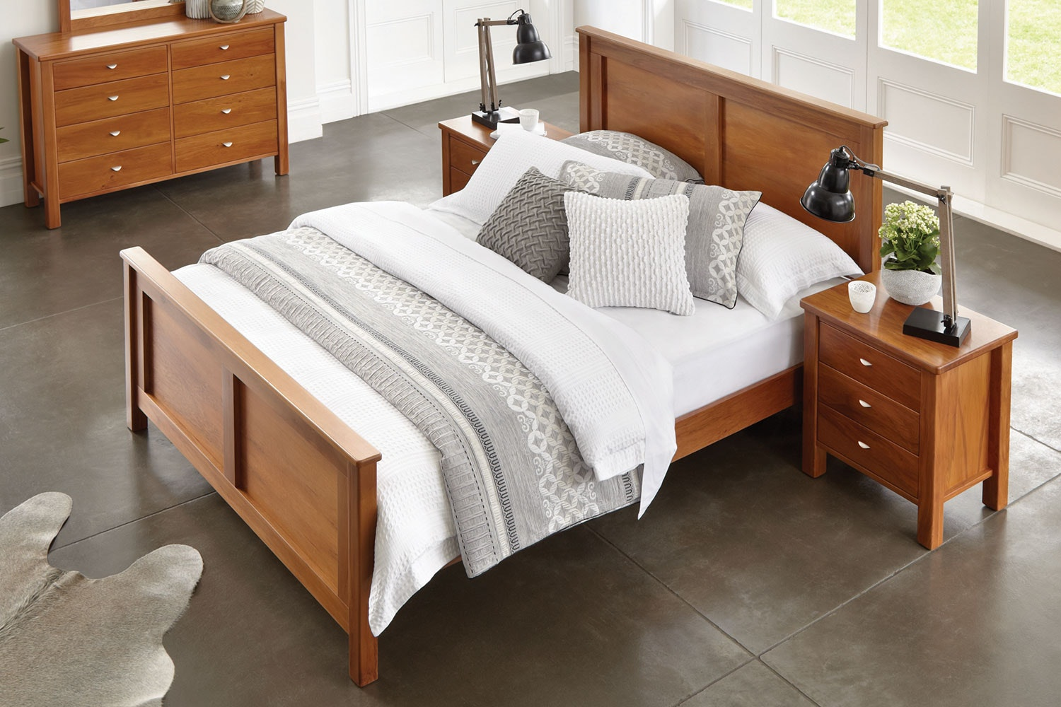 Riversdale Queen Solid Slat Bed Frame by Marlex Furniture