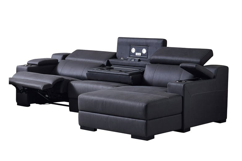 Seattle 2 Seater Fabric Theatre Sofa with Chaise by Synargy