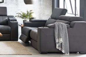 Seattle 2 Seater Fabric Theatre Sofa by Synargy