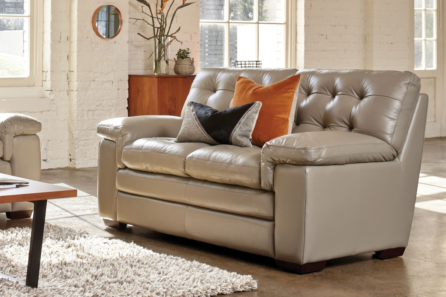 Cullen 2.5 Seater Leather Sofa by La-Z-Boy