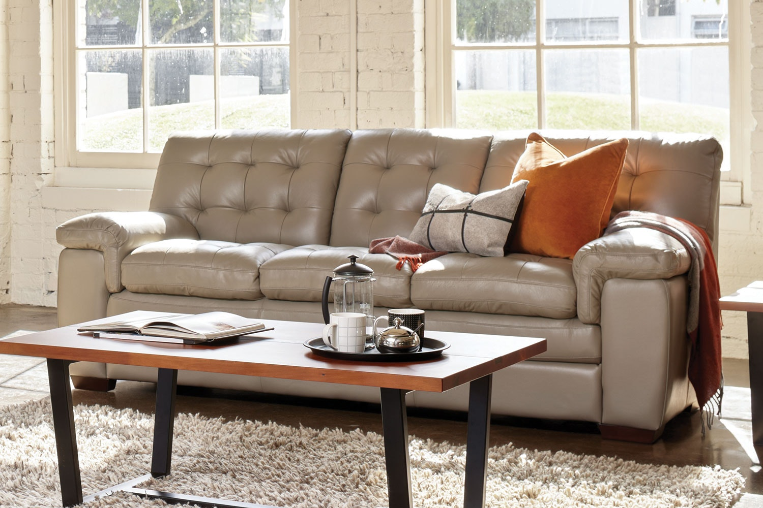Cullen 3 Seater Leather Sofa by La-Z-Boy