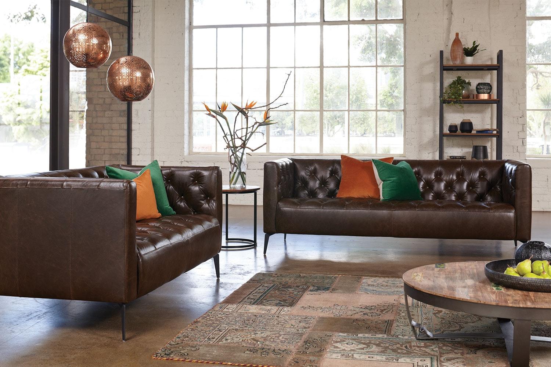 Canelli 2 Piece Leather Lounge Suite by Debonaire Furniture