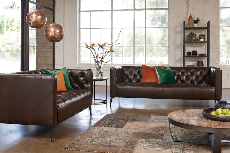 Canelli 2 Piece Leather Lounge Suite by Debonaire Furniture