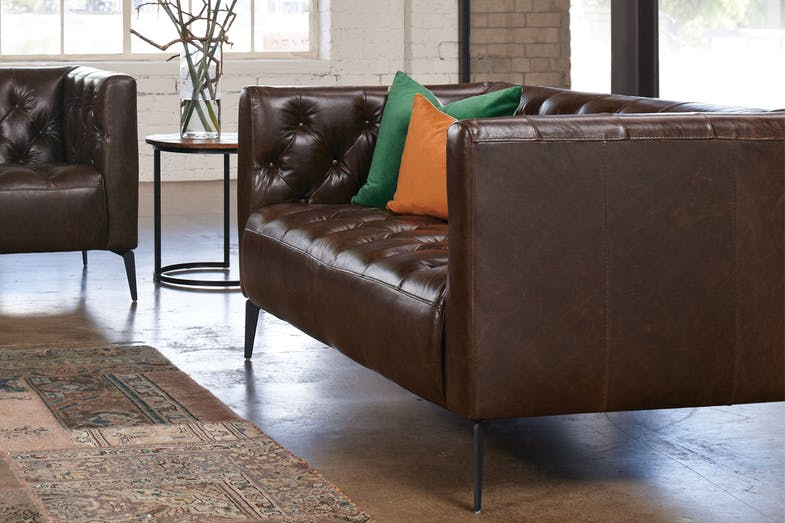 Canelli 2 Seater Leather Sofa by Debonaire Furniture