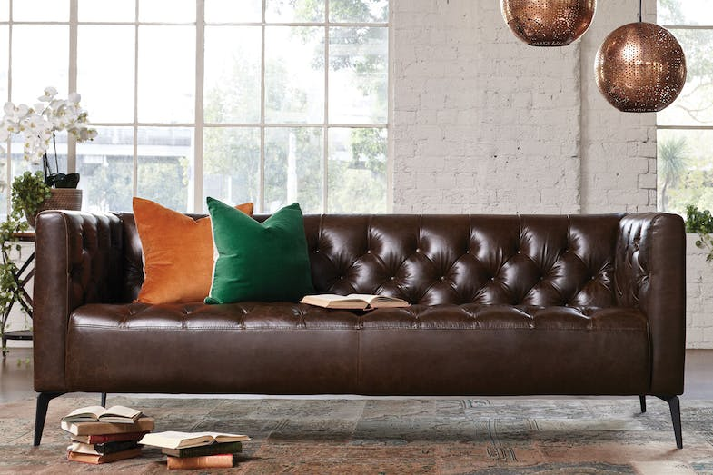 Canelli 3 Seater Leather Sofa by Debonaire Furniture