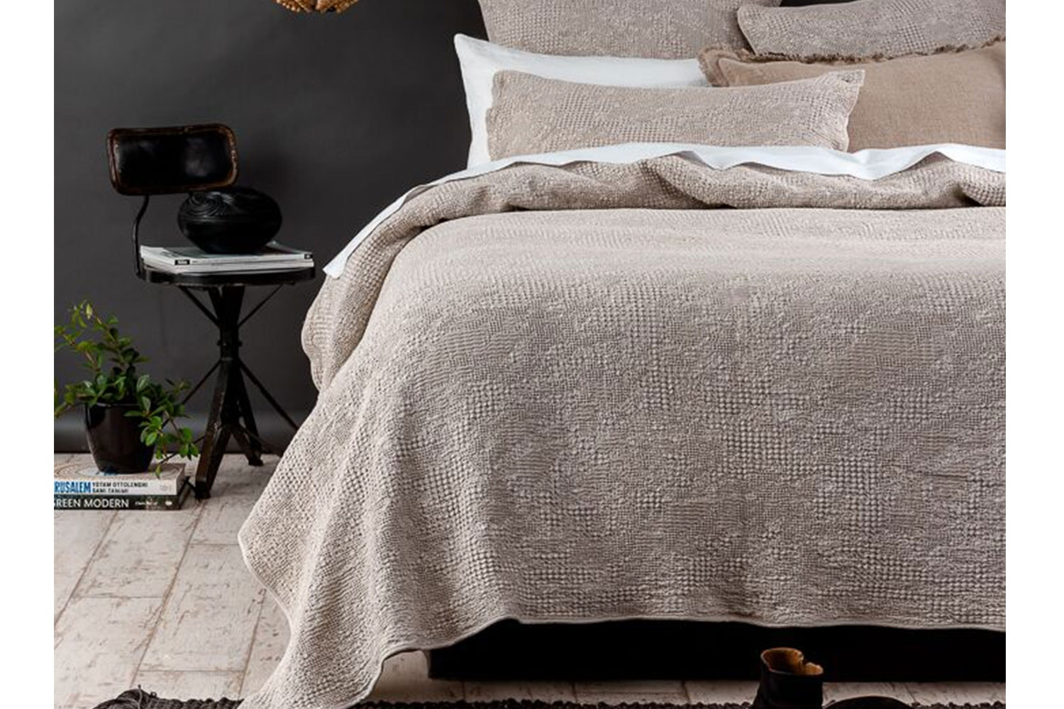 Echo Stonewashed Natural Duvet Cover Set by Seneca