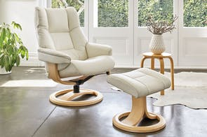 Freya Leather Recliner and Footstool - Large - Trend - IMG