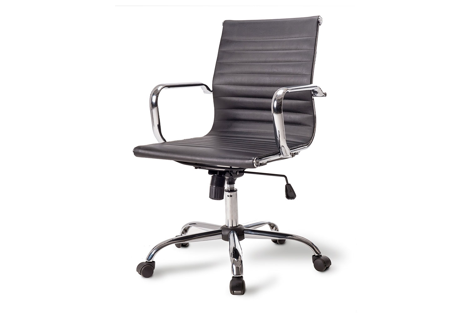 Line Office Chair - Black with Star Swivel Base