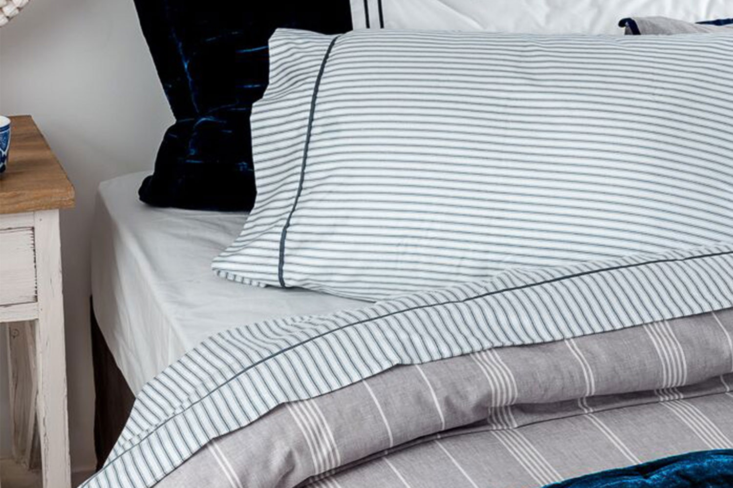 Maine Ticking Sheet Set by Seneca