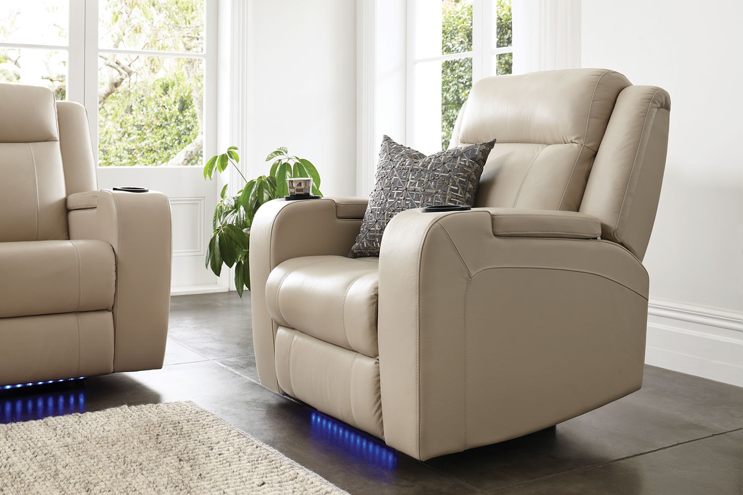 ... Marina Leather Recliner Chair By Synargy