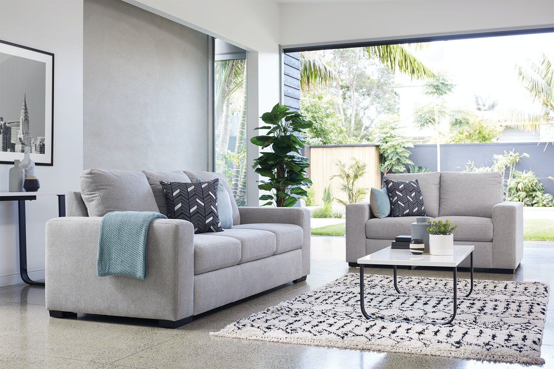 Image of Neptune 2 Piece Fabric Lounge Suite