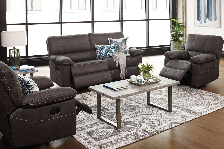 Orion 3 Piece Fabric Recliner Lounge Suite